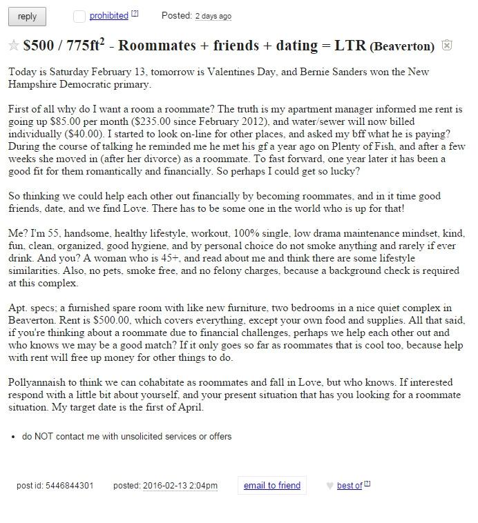 Craigslist dating