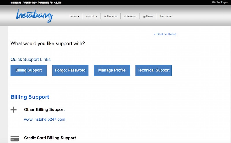 cancel instabang.com account