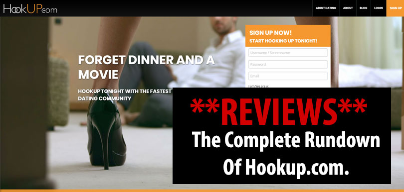 homepage of hookup.com