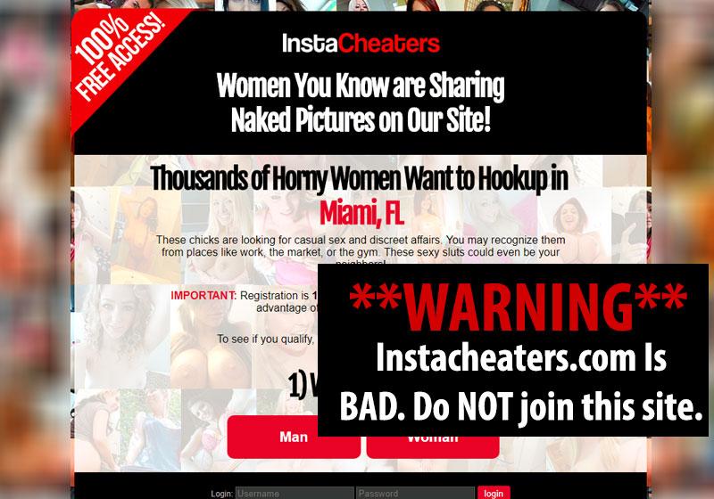 instacheaters website screenshot