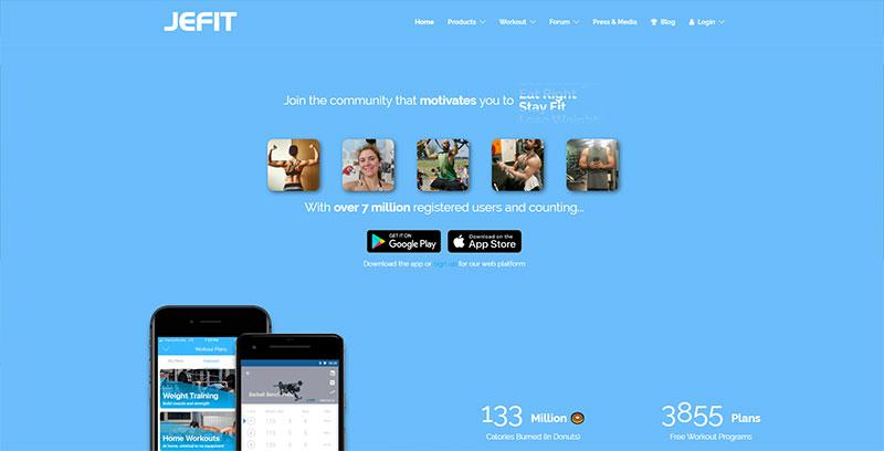 Jefit workout app